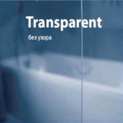 APSV-70 Боковая часть 70 см к шторке на ванну профиль белый Transparent
