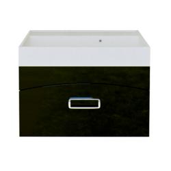 AQWELLA/Темпо Т7 Тумба-раковина 700*490*405 черная (раковина конформ)