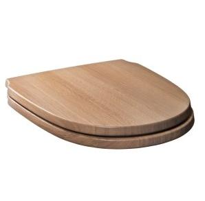 CONTEA Сиденье c микролифтом деревянное коричн.