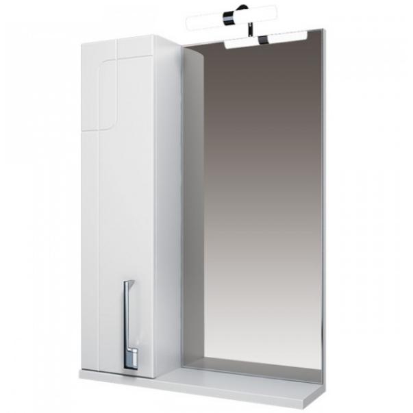 Диана Зеркало 55 бел, подсветка, шкаф левый