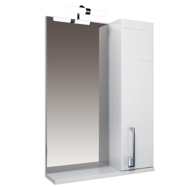 Диана Зеркало 55 бел, подсветка, шкаф правый