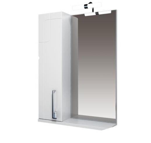 Диана Зеркало 60 бел, подсветка, шкаф левый
