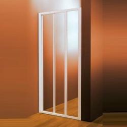 Душевая дверь раздвижная, пластик Pearl ASDP3-120