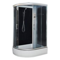 Душевая кабина белые стенки матовое стекло 1200*80*215