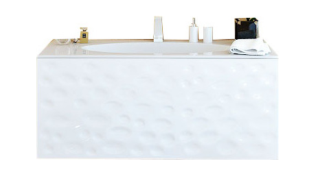 Дюна Тумба под умывальник подвесная  с раковиой Elegance 1000*400*500, белая