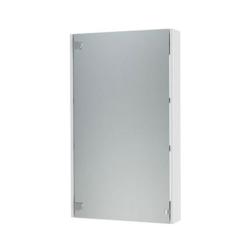 Эко Зеркальный шкаф 50, без сменных элементов, белый