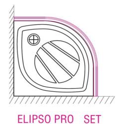 Elipco-90 PRO SET Панель с креплением белая