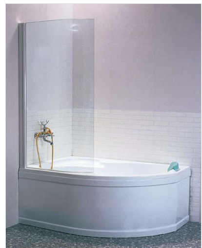 EVSK1-75 P Штора для ванны Rosa 140 Wh+Wh стекло Transporan
