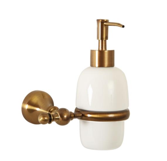 Gialetta Дозатор жидкого мыла настенный бронза/керамика