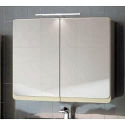 Кальма Зеркальный шкаф 90, олива матовая с оливой