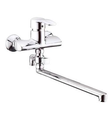 Карат Смеситель д/ванны/душа излив 350 мм б/аксес. хром