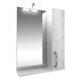 Кристи Зеркало 55  бел, подсветка, шкаф правый