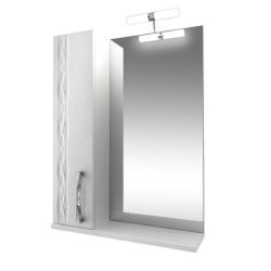Кристи Зеркало 55  бел, подсветка, шкаф левый