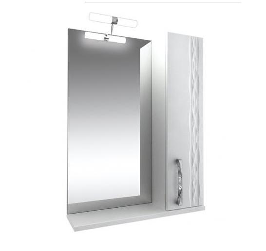 Кристи Зеркало 60 бел, подсветка, шкаф правый