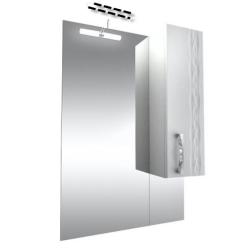 Кристи Зеркало 60 удлиненное бел, подсветка, шкаф правый