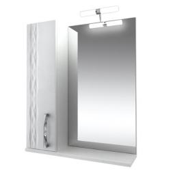 Кристи Зеркало 70 с подсветкой шкаф левый