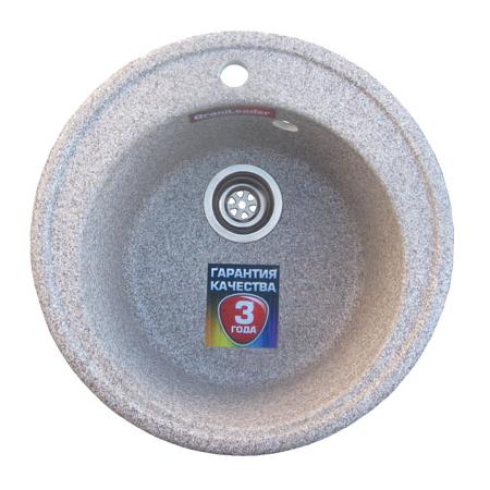 Мойка из искусственного камня круглая 500*365*210