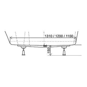 Опорная конструкция для ванны Rosa II