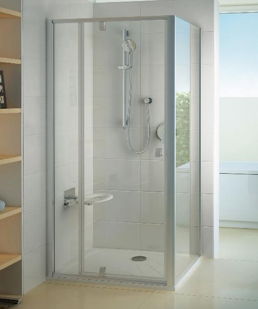 PPS-90 Душевая дверь стекло Transparent, бел