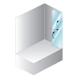 Quat TP 140 White polisterol Штора для ванны