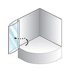 Quat TP White Polistrol Штора для ванны 108*140