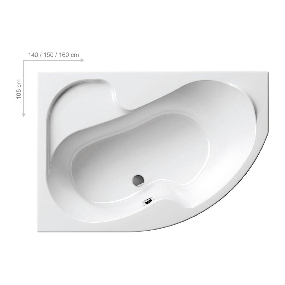 Акриловая ванна Rosa I (Ravak) 150*105 левая