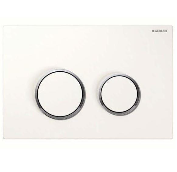 Sigma 20 Клавиша смыва  пластик белый/позолота/белый