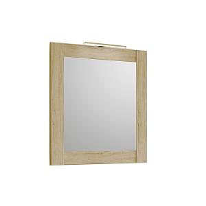 Симфония Зеркало в рамке сосна беленая 700*800 со светильником Anna