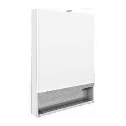 The Gap Зеркальный шкаф 700, бел. плёнка