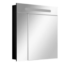 Victoria Nord Зеркальный шкаф 80 Black Edition (черный)