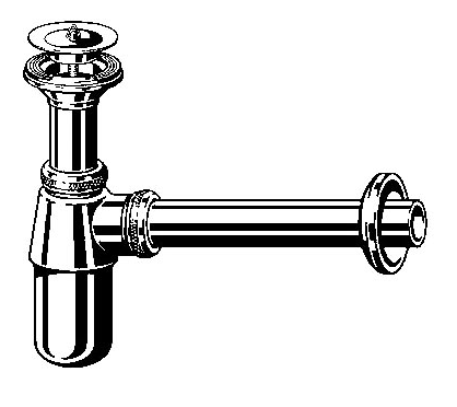 Viega Бутылочный сифон (хром) 32