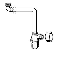 Viega Бутылочный сифон (пластик) 32 с универсальным клапаном, пробкой